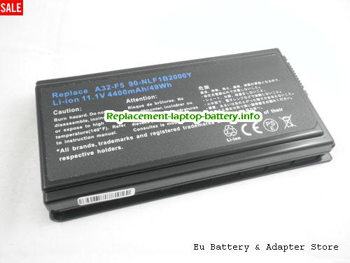 F5VL, ASUS F5VL Battery, 5200mAh 11.1V Black Li-ion