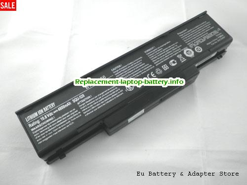 BTY-M66, MSI BTY-M66 Battery, 4400mAh 11.1V Black Li-ion