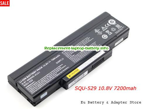 BTY-M66, MSI BTY-M66 Battery, 7200mAh 10.8V Black Li-ion