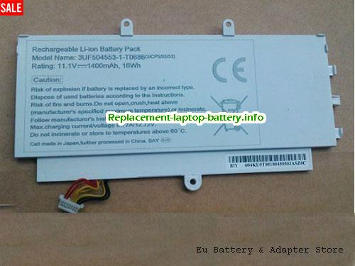 Netherlands ACER 3UF504553-1-T0686(3ICP5/55/53) battery 16Wh White