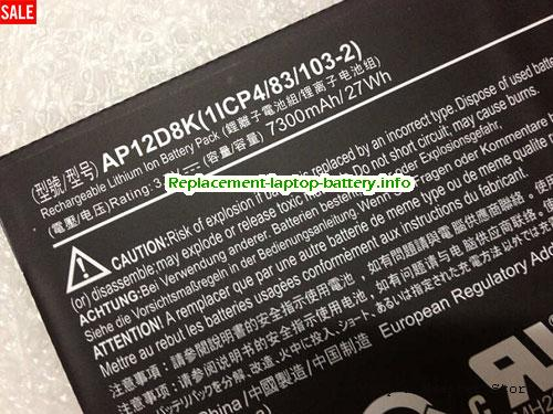 Netherlands ACER AP12D8K Battery For Iconia W510P W510 Series 27Wh 7300mah