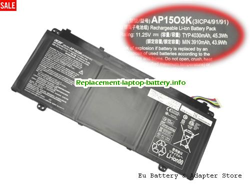 Netherlands ACER AP1503K Battery For Aspire S13  S5 series Laptop