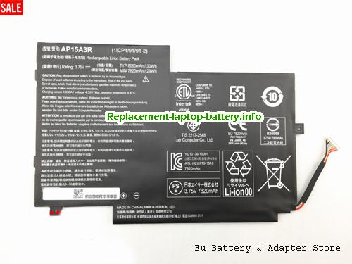 Netherlands ACER AP15A3R Aspireswitch 10E SW3-013P Laptop Battery 30Wh
