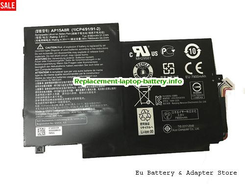 Netherlands Genuine ACER AP15A8R Battery 31.0Wh 8130mah