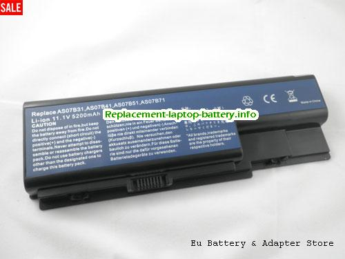 AS07B31, ACER AS07B31 Battery, 5200mAh 11.1V Black Li-ion