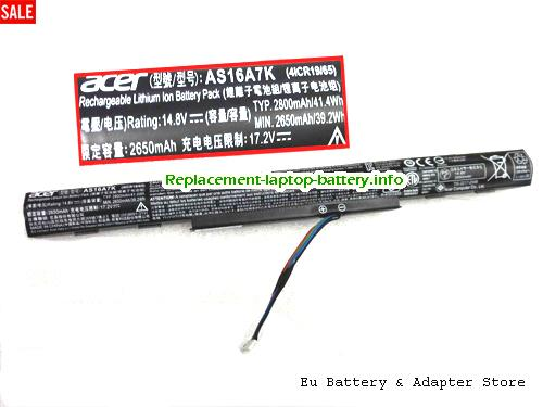 Netherlands ACER AS16A5K AS16A6K AS16A7K Battery For Aspire E5 Series
