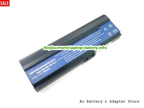 3UR18650Y-3-QC262, ACER 3UR18650Y-3-QC262 Battery, 6600mAh 11.1V Black Li-ion