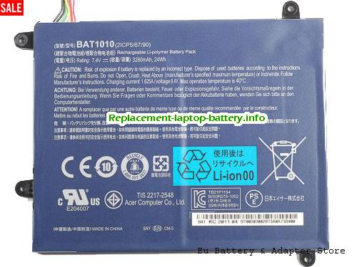 2ICP 5/67/89, ACER 2ICP 5/67/89 Battery, 3260mAh, 24Wh  7.4V Black Li-ion
