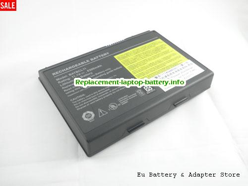 A5522124, ACER A5522124 Battery, 6300mAh 11.1V Black Li-ion