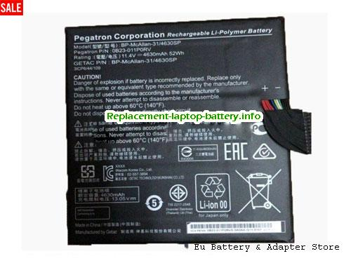2ICP6/44/109-2, ACER 2ICP6/44/109-2 Battery, 4630mAh, 52Wh  11.4V Black Li-Polymer