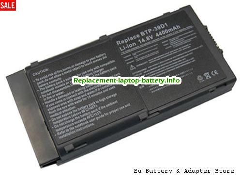 60.49H10.001, ACER 60.49H10.001 Battery, 3920mAh 14.8V Black Li-ion