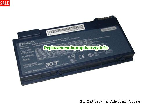 91.48R28.001, ACER 91.48R28.001 Battery, 1800mAh 14.8V Grey Li-ion