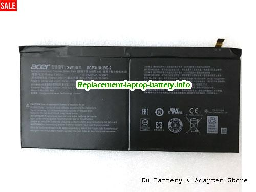 1ICP310190-2, ACER 1ICP310190-2 Battery, 7900mAh, 30Wh  3.8V Black Li-Polymer