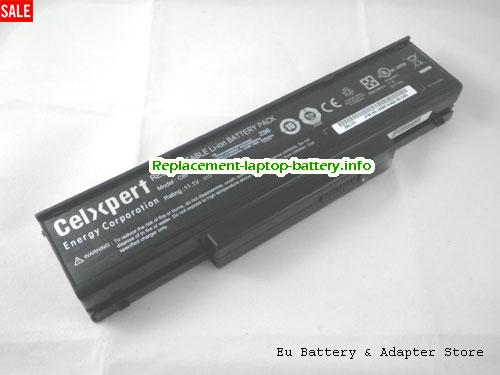 BTY-M66, MSI BTY-M66 Battery, 4800mAh 11.1V Black Li-ion