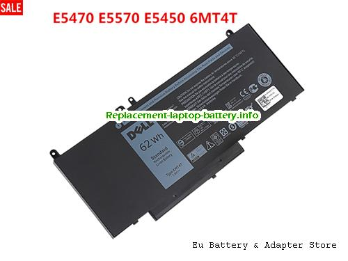 8V5GX, Dell 8V5GX Battery, 8260mAh, 62Wh  7.6V Black Li-ion
