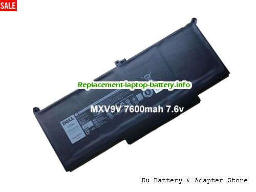 MXV9V, Dell MXV9V Battery, 7500mAh, 60Wh  7.6V Black Li-Polymer