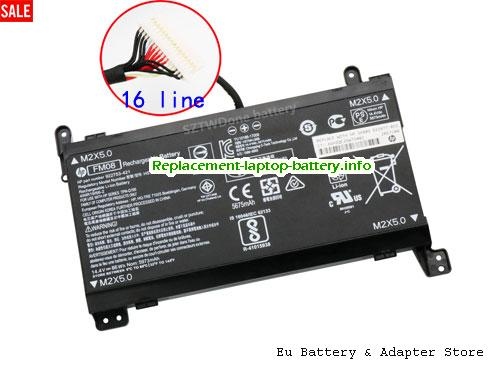 FM08, HP FM08 Battery, 5700mAh, 83.22Wh  14.6V Black Li-Polymer
