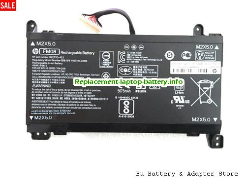 FM08, HP FM08 Battery, 5700mAh, 83Wh  14.6V Black Li-ion