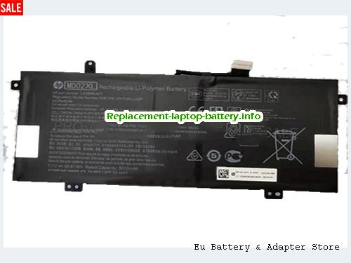 Netherlands Genuine Hp MD02XL Battery L63999-421 Rechargeable Li-Polymer 40.61Wh