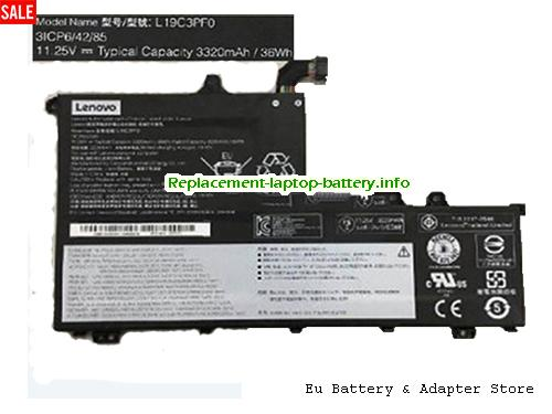 Netherlands Genuine Lenovo L19C3PF0 Battery SB10V25232 Rechargeable Li-Polymer 36Wh