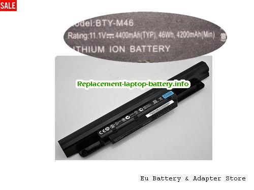 925T2015F, MSI 925T2015F Battery, 4200mAh, 46Wh  11.1V Black Li-ion