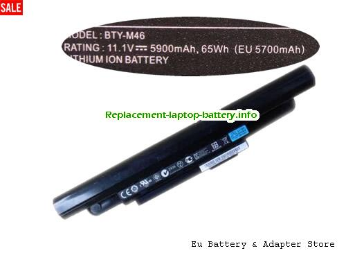 925T2015F, MSI 925T2015F Battery, 5900mAh, 57Wh  11.1V Black Li-ion