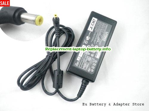 ACER TRAVEL MATE 222X Laptop AC Adapter 19V 3.42A 65W